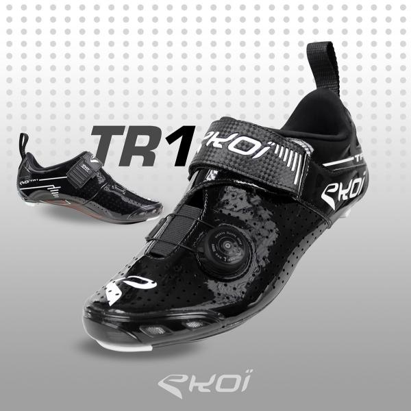 Chaussures Triathlon EKOI TR1 LD Carbone Noires
