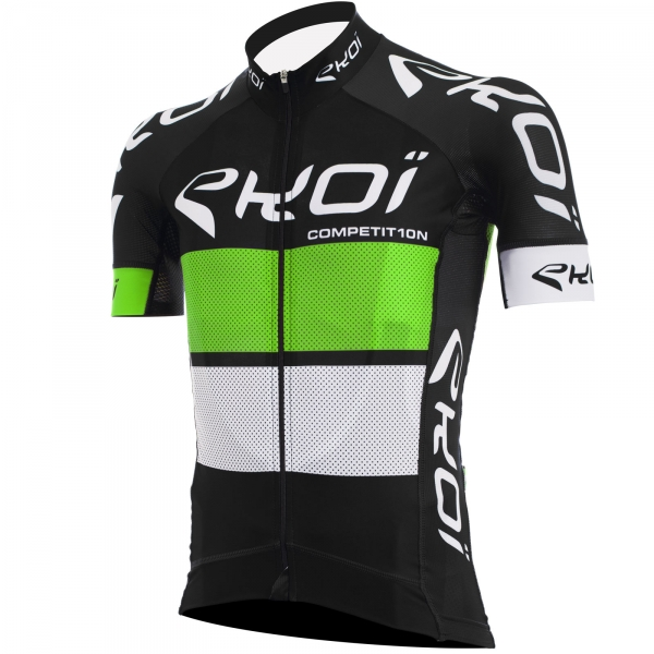 Trikot EKOI COMP10, černá-zelená-bílá