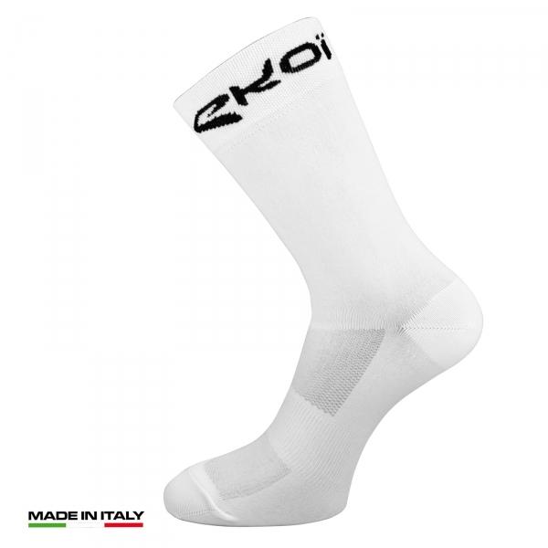 Letní cyklistické ponožky EKOI Sunlight Bílá