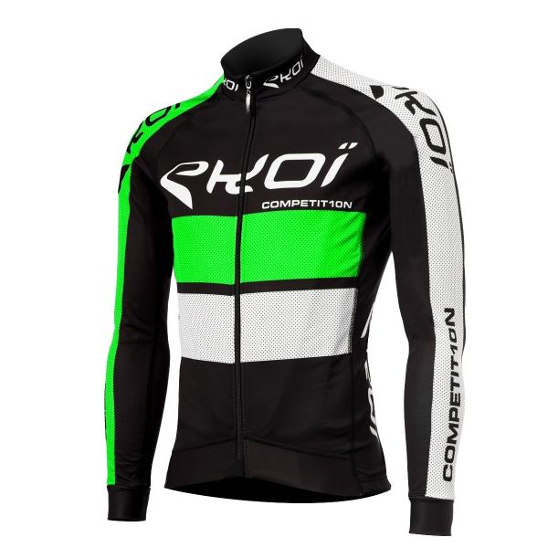 Zimní dres EKOI COMP10, Černá / Zelená