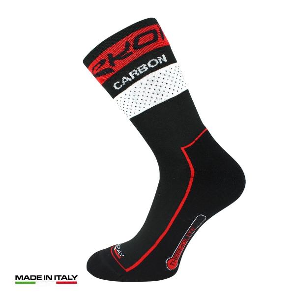 Zimní ponožky EKOI COMP10 Carbone Thermolite černá / červená