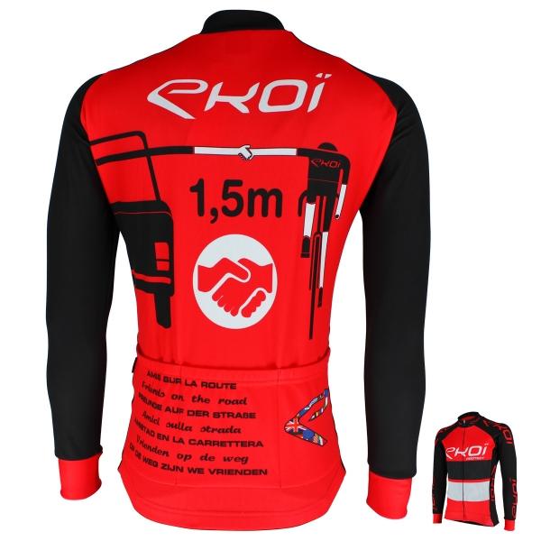 Maillot hiver EKOI PROTECT Rouge Noir