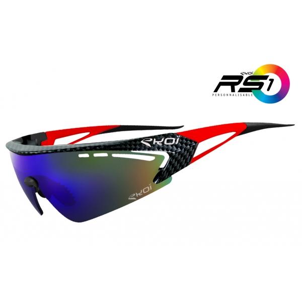 Brýle RS1 EKOI LTD Carbone, Červená / revo modrá