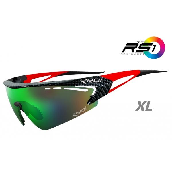 Brýle RS1 EKOI LTD Carbone, Červená XL / revo zelená