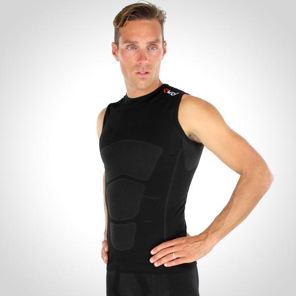Běžecké tričko EKOI RUN bez rukávů Černá