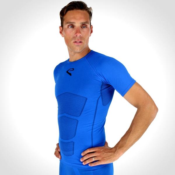 Běžecké tričko EKOI RUN krátký rukáv Modrá