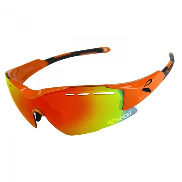Brýle EKOI F15, Fluo oranžová Revo červená