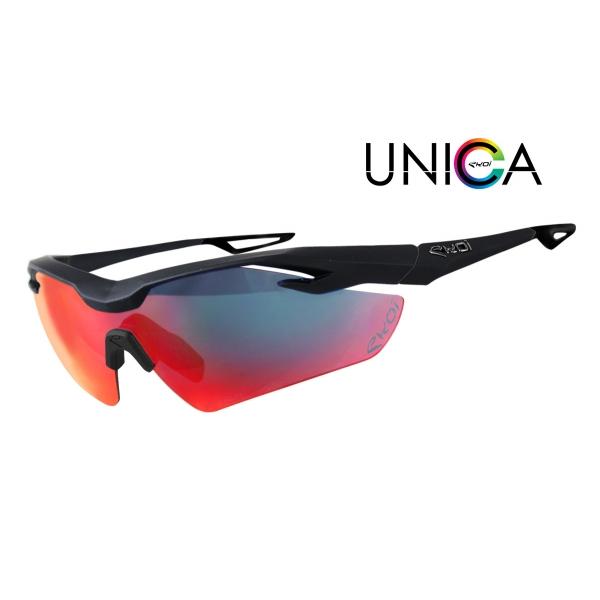 Brýle UNICA EKOI LTD Černá matná Revo červená