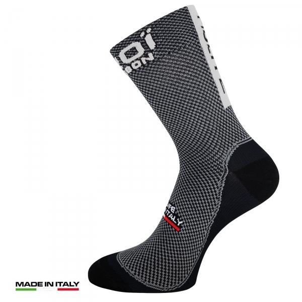 Letní ponožky EKOI Carbone Fiber 2, Bílá